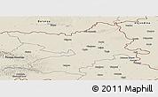 Shaded Relief Panoramic Map of Osijek-Baranja