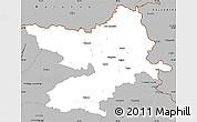 Gray Simple Map of Osijek-Baranja