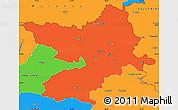 Political Simple Map of Osijek-Baranja