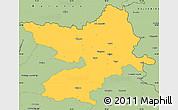 Savanna Style Simple Map of Osijek-Baranja