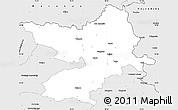 Silver Style Simple Map of Osijek-Baranja