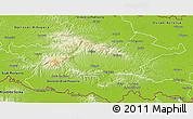 Physical 3D Map of Pozega-Slavonija