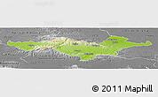 Physical Panoramic Map of Pozega-Slavonija, desaturated