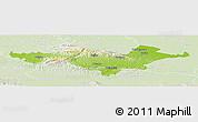 Physical Panoramic Map of Pozega-Slavonija, lighten