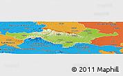 Physical Panoramic Map of Pozega-Slavonija, political outside
