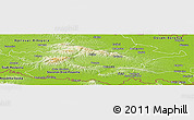 Physical Panoramic Map of Pozega-Slavonija