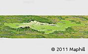 Physical Panoramic Map of Pozega-Slavonija, satellite outside