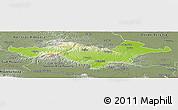 Physical Panoramic Map of Pozega-Slavonija, semi-desaturated