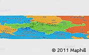 Political Panoramic Map of Pozega-Slavonija