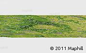 Satellite Panoramic Map of Pozega-Slavonija