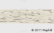Shaded Relief Panoramic Map of Pozega-Slavonija