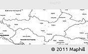 Blank Simple Map of Pozega-Slavonija