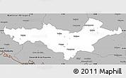 Gray Simple Map of Pozega-Slavonija