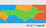 Political Simple Map of Pozega-Slavonija