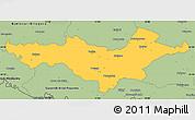 Savanna Style Simple Map of Pozega-Slavonija