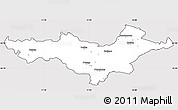 Silver Style Simple Map of Pozega-Slavonija, cropped outside