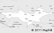 Silver Style Simple Map of Pozega-Slavonija