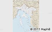 Classic Style 3D Map of Primorje-Gorski Kotar