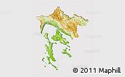 Physical 3D Map of Primorje-Gorski Kotar, cropped outside