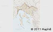 Shaded Relief 3D Map of Primorje-Gorski Kotar, lighten