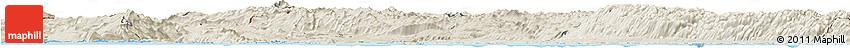 Shaded Relief Horizon Map of Primorje-Gorski Kotar