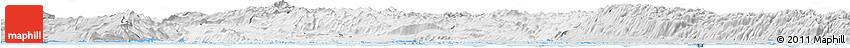 Silver Style Horizon Map of Primorje-Gorski Kotar