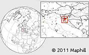 Blank Location Map of Primorje-Gorski Kotar