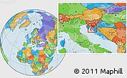 Political Location Map of Primorje-Gorski Kotar