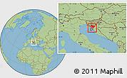 Savanna Style Location Map of Primorje-Gorski Kotar