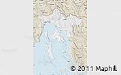 Classic Style Map of Primorje-Gorski Kotar