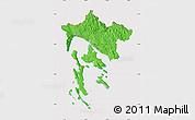 Political Map of Primorje-Gorski Kotar, cropped outside