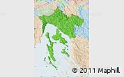 Political Map of Primorje-Gorski Kotar, lighten