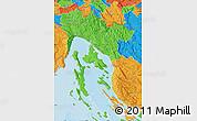 Political Map of Primorje-Gorski Kotar
