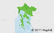 Political Map of Primorje-Gorski Kotar, single color outside