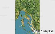 Satellite Map of Primorje-Gorski Kotar