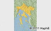 Savanna Style Map of Primorje-Gorski Kotar