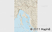 Shaded Relief Map of Primorje-Gorski Kotar