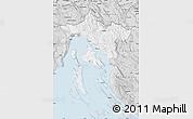 Silver Style Map of Primorje-Gorski Kotar