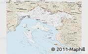 Classic Style Panoramic Map of Primorje-Gorski Kotar