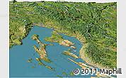 Satellite Panoramic Map of Primorje-Gorski Kotar