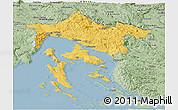 Savanna Style Panoramic Map of Primorje-Gorski Kotar