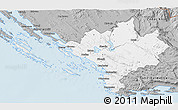 Gray 3D Map of Sibenik