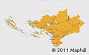 Political 3D Map of Sibenik, cropped outside
