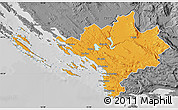 Political Map of Sibenik, desaturated