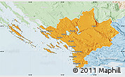 Political Map of Sibenik, lighten
