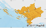 Political Map of Sibenik, single color outside