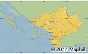 Savanna Style Map of Sibenik, single color outside