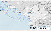 Silver Style Map of Sibenik