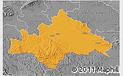 Political 3D Map of Sisak-Moslavina, desaturated