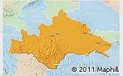 Political 3D Map of Sisak-Moslavina, lighten